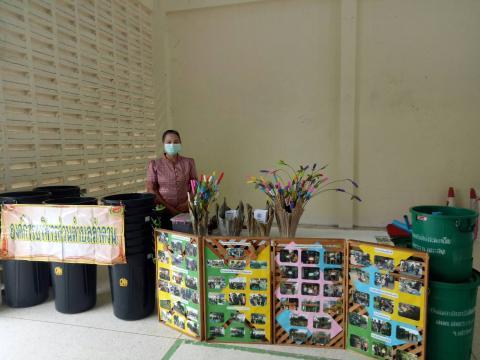 วันที่ 15 ตุลาคม 2563 จัดนิทรรศการถังขยะอินทรีย์ไม่มีวันเต็ม